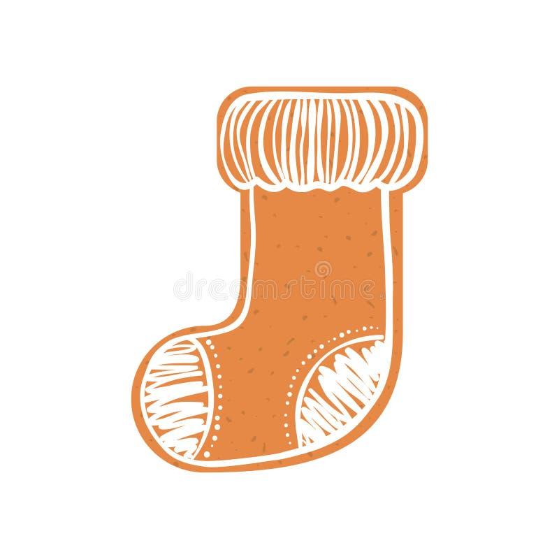 Kakasymbol Design för glad jul som stylized swirlvektorn för bakgrund det dekorativa diagrammet vågr stock illustrationer