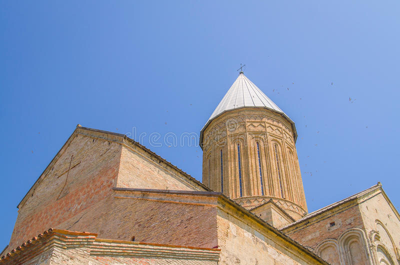 KAKHETI, GEORGIA - August 4 , 2016: Alaverdi - monastery and cathedral, officially the of St. George in the Akhmeta. KAKHETI, GEORGIA - August 4 , 2016: Alaverdi royalty free stock image