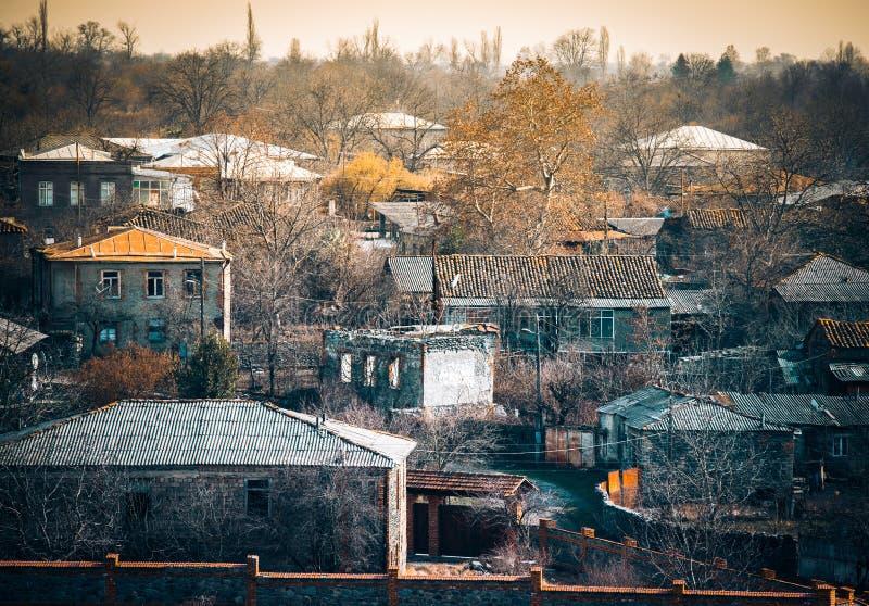 Kakhetia. Winter view to village in Kakheti region, Georgia royalty free stock images