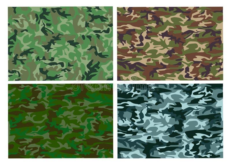 kaki- militär patt för kamouflage vektor illustrationer