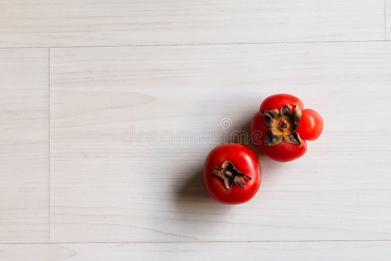 Kaki owoc Persimmon owoc smakowita Japońska owoc zdjęcia royalty free