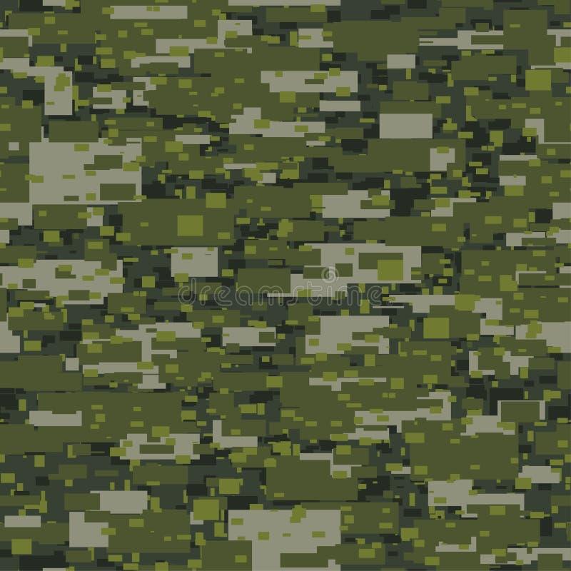 Kakifarbiges nahtloses Muster des Tarnungsstädtischen Unterbrechungsblockes lizenzfreie abbildung