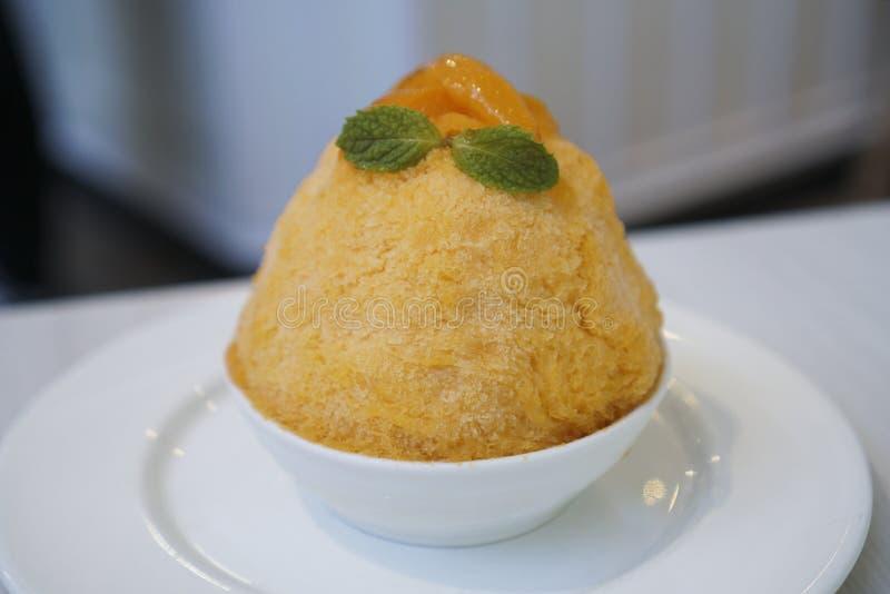 Kakigori saisonnier thaïlandais de fruit de Mayongchid images libres de droits