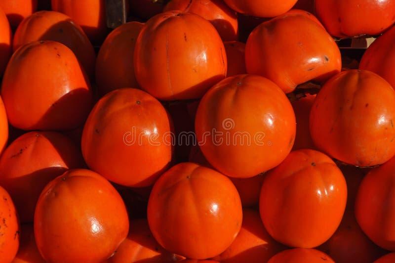Kakipflaumenbaumpersimone-Fruchtlebensmittel stockfotos