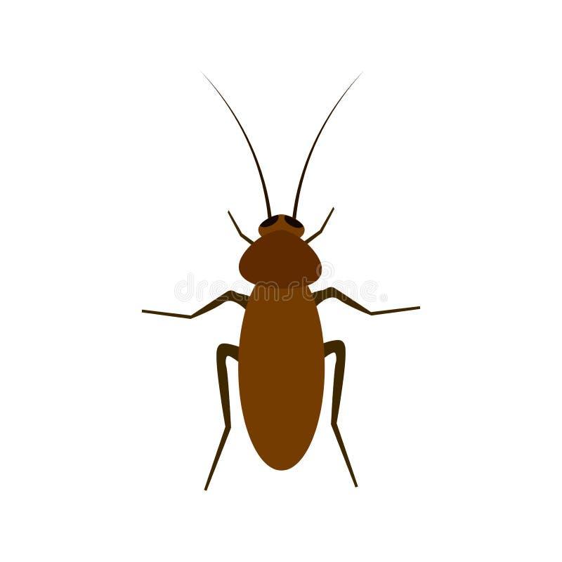 Kakkerlakkenillustratie op een witte achtergrond vector illustratie