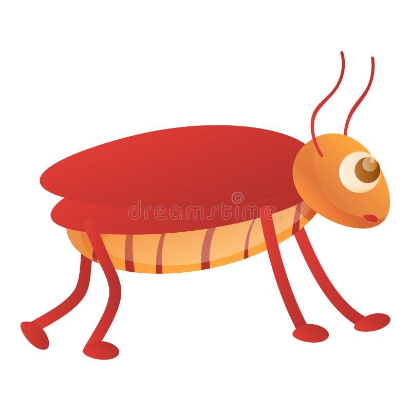 Kakkerlakkenpictogram, beeldverhaalstijl royalty-vrije illustratie