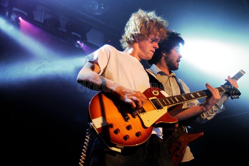 Kakkmaddafakka (norwegischer indie Rockband gebildet und in Bergen angesiedelt) führt an MusikRathaus durch lizenzfreies stockfoto