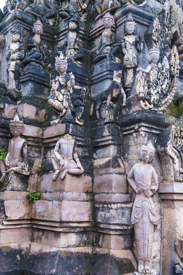 Kakku pagoda Myanmar obrazy royalty free