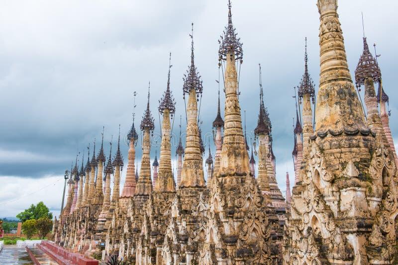 Kakku pagoda Myanmar fotografia stock