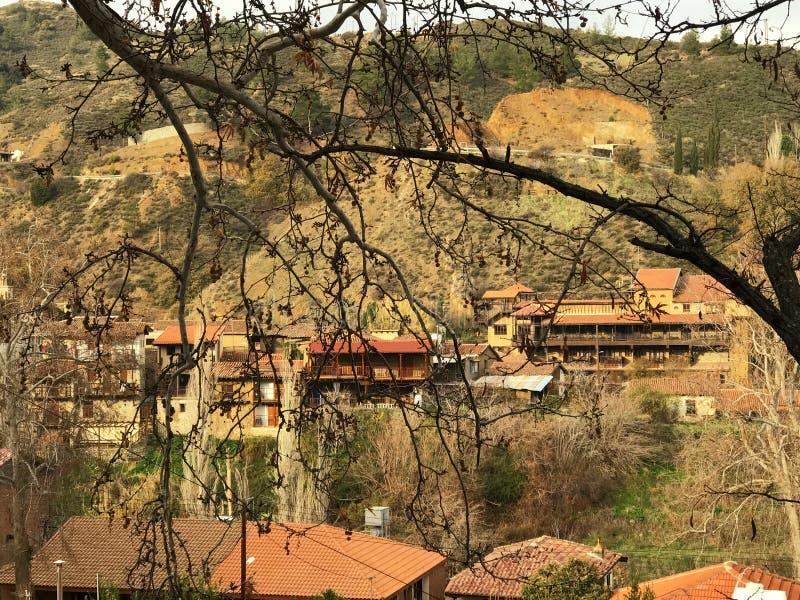 Kakopetria, известная touristic деревня в горах Troodos, c стоковая фотография rf