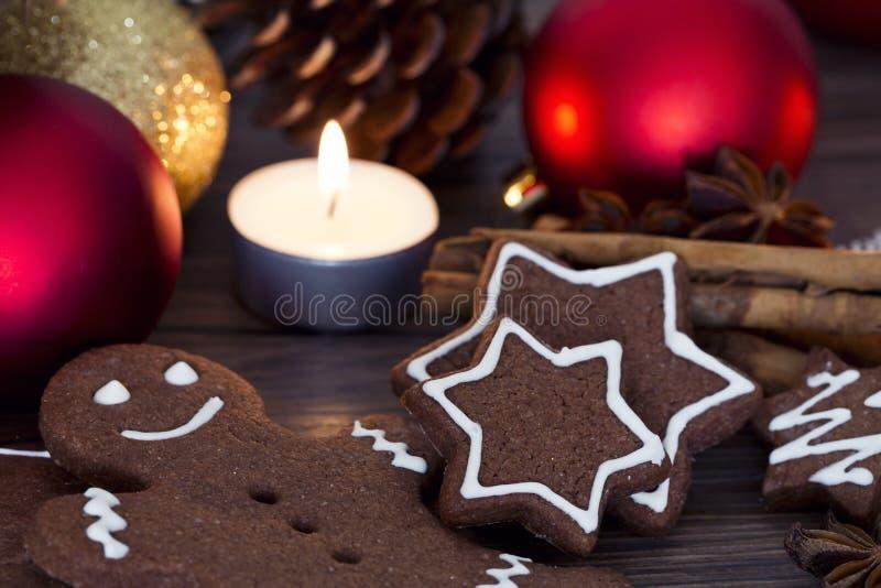Kakor för jul arkivfoton