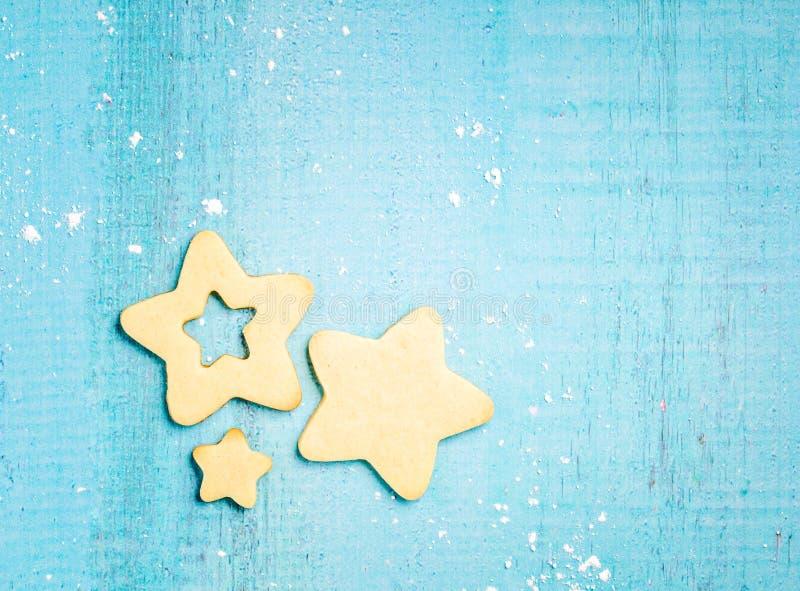 kakor formade stjärnan arkivbilder