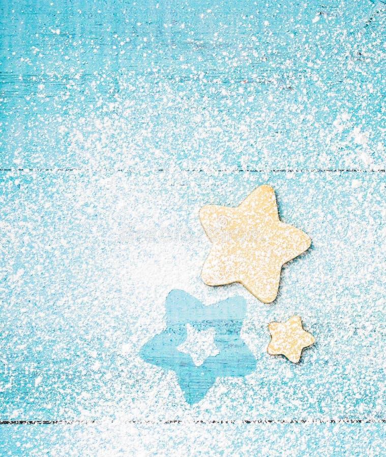 kakor formade stjärnan royaltyfri foto