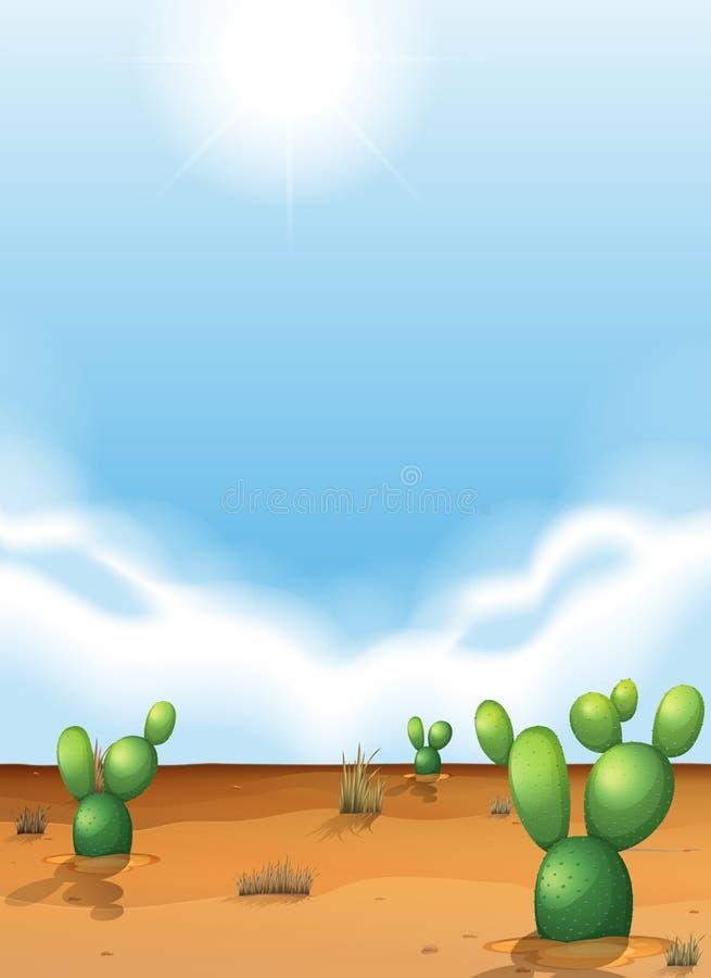 kaktusöken fuerteventura spain stock illustrationer