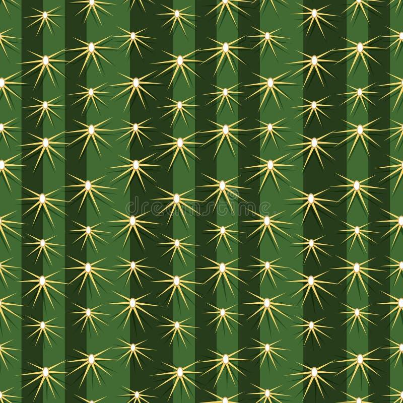 Kaktus zasadza tekstury bezszwowego deseniowego tło ilustracji