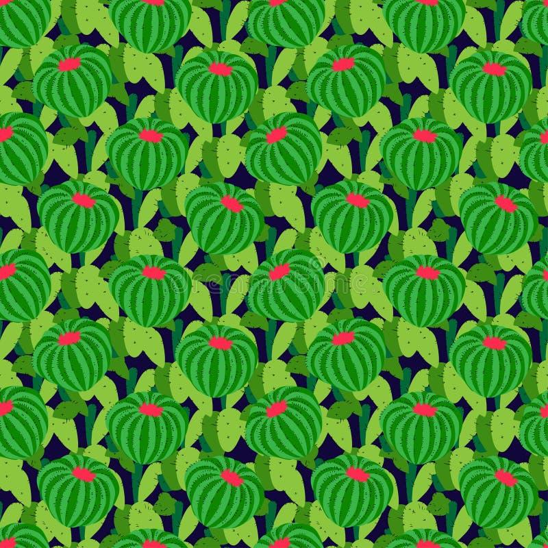 Kaktusbakgrund, sömlös modell för vektor vektor illustrationer