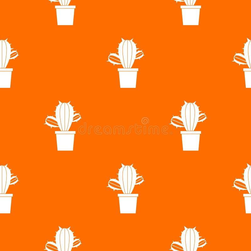 Kaktushouseplants i den sömlösa krukamodellen royaltyfri illustrationer