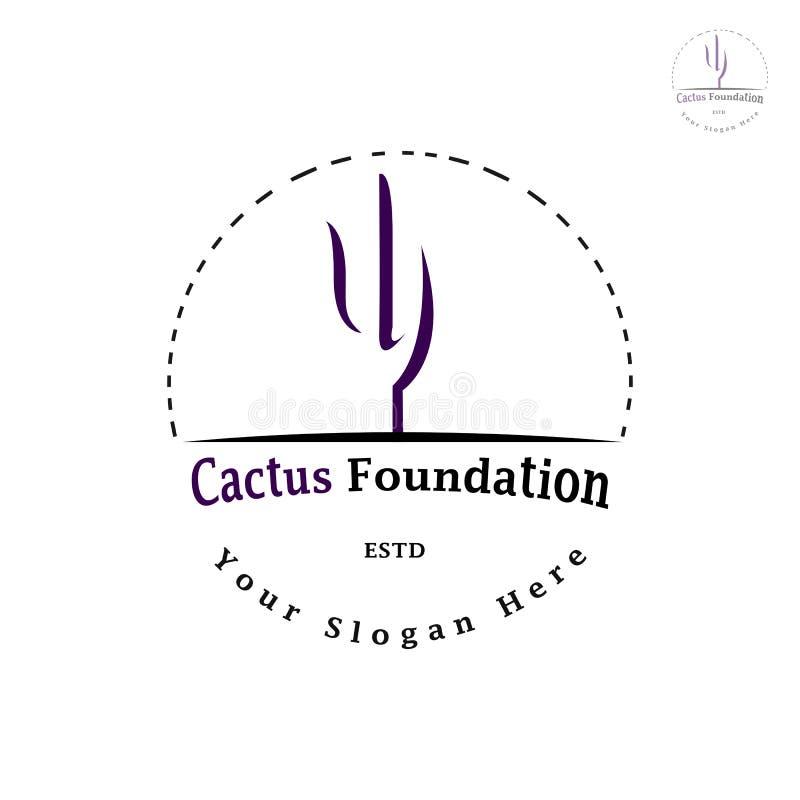 KAKTUSOWY FUNDACYJNY logo zdjęcie stock