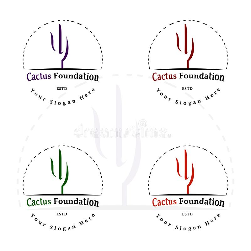 KAKTUSOWY FUNDACYJNY logo 6 zdjęcia royalty free