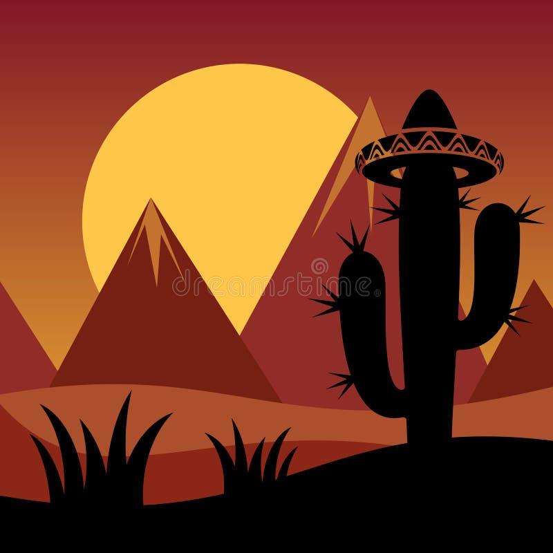 Kaktusowy tło royalty ilustracja