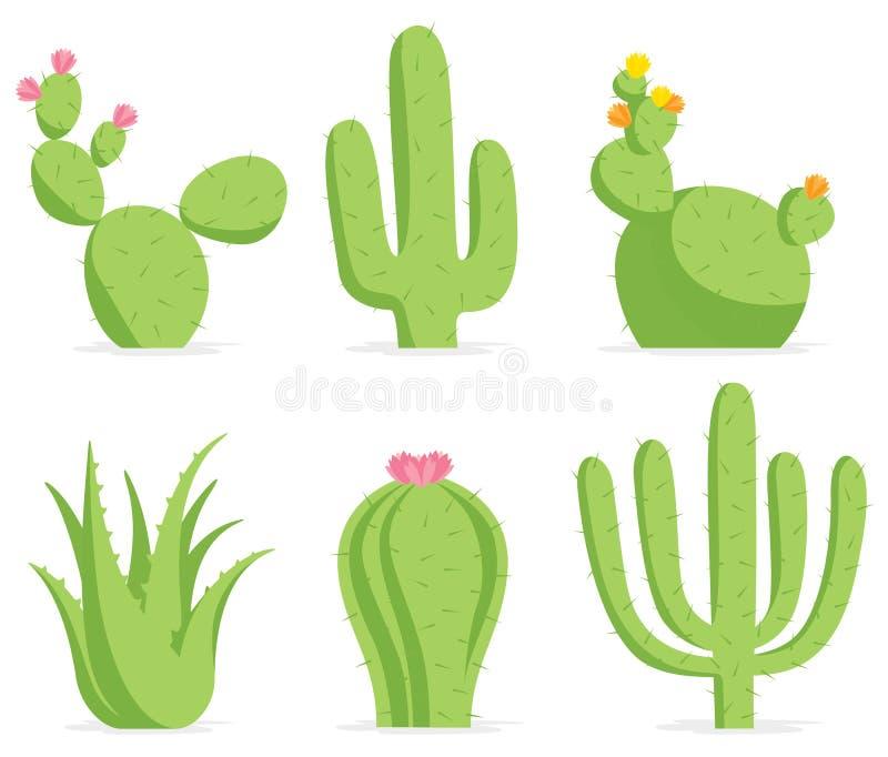 kaktusset royaltyfri illustrationer