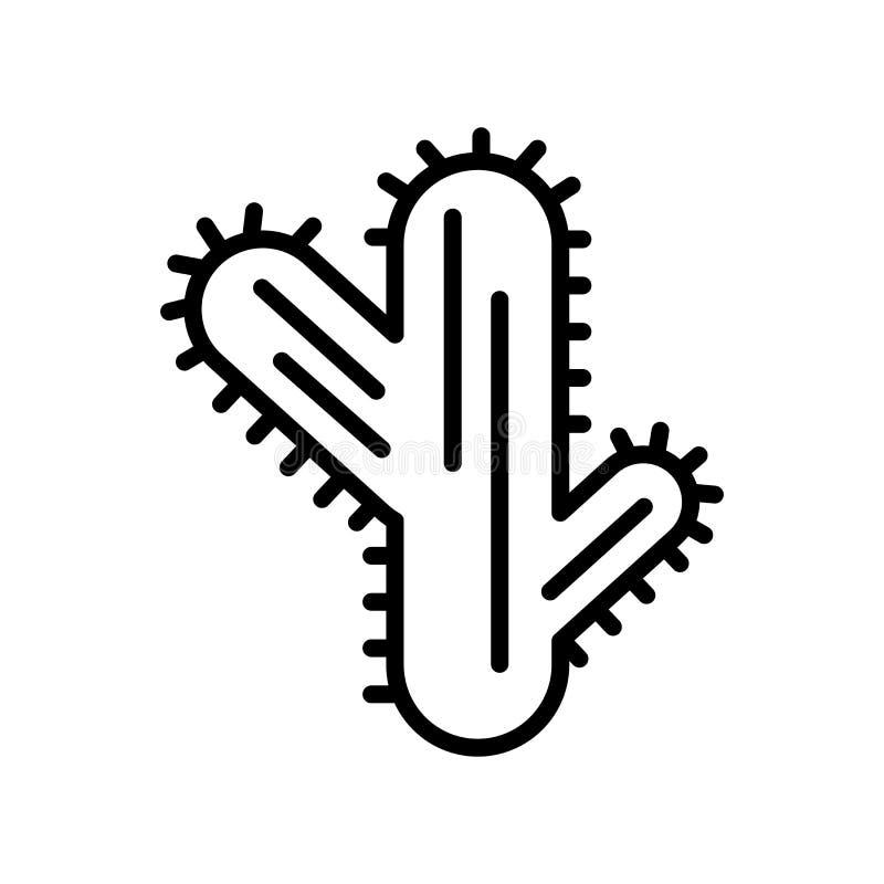 Kaktussymbolsvektor som isoleras på vit bakgrund, kaktustecken, l vektor illustrationer