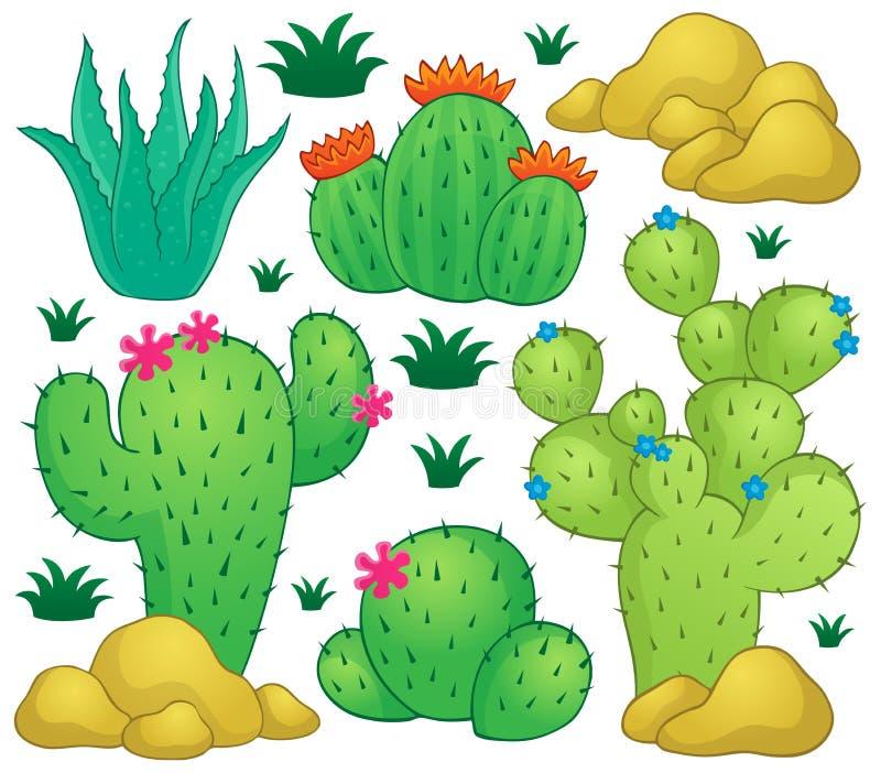 Kaktustemabild 1 Arkivbilder