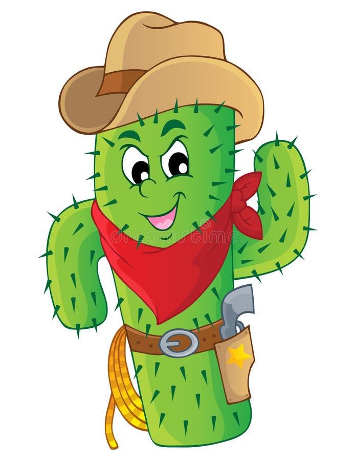 Kaktustemabild 3 royaltyfri illustrationer