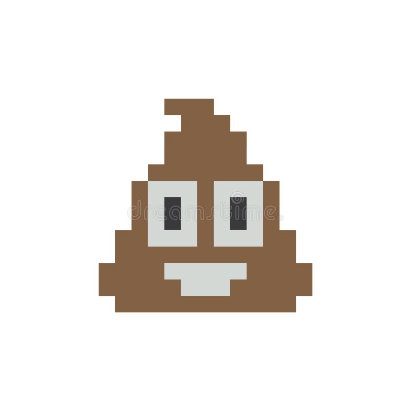 Kaku piksla wektorowa ikona eps10 Kaku twarzy emoji ikona ilustracji