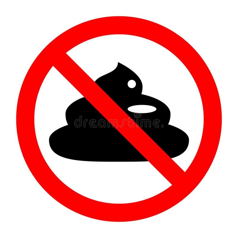Kaku prohibicji przerwa zakazujący znak ilustracja wektor