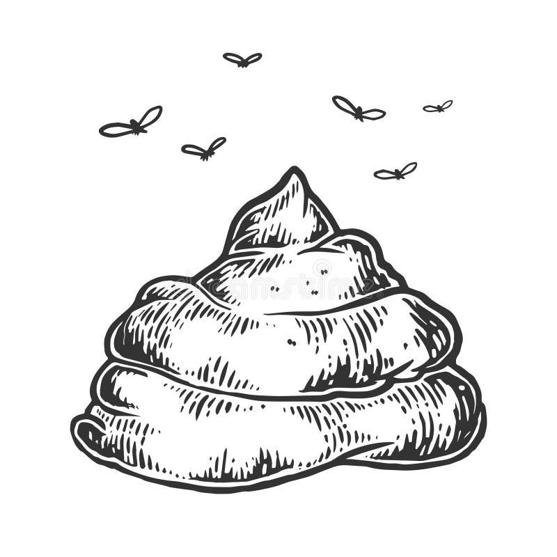 Kaku z komarnicy nakreślenia rytownictwa wektorem ilustracja wektor