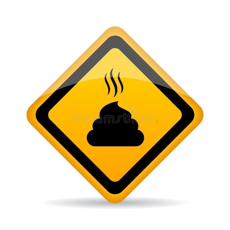 Kaku znak ostrzegawczy ilustracji