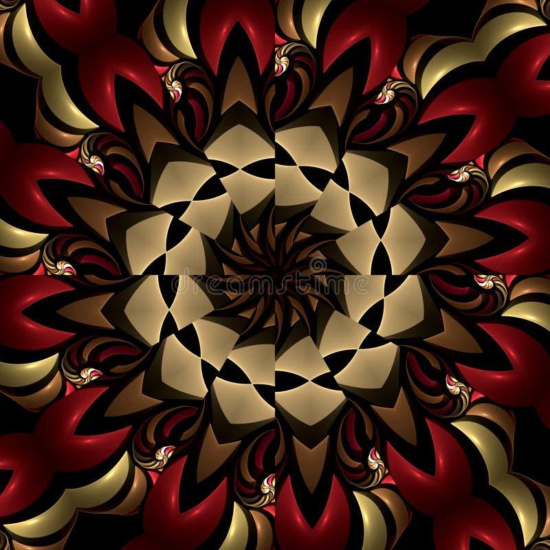 Kaléidoscope ardent de compas illustration stock