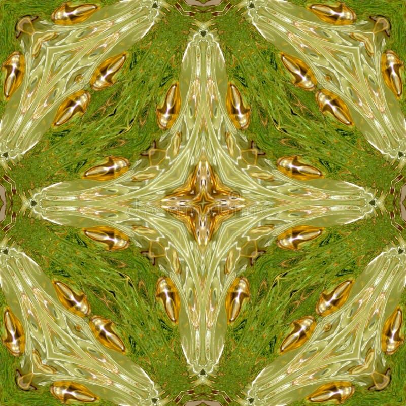 Kaléidoscope croisé médiéval abstrait photos stock
