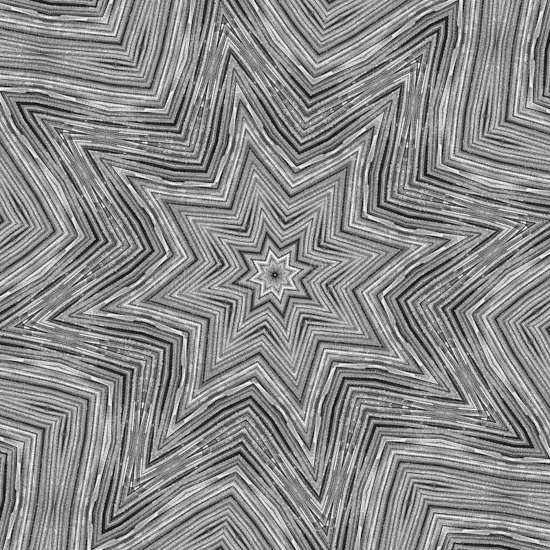 Kaléidoscope d'étoile en métal   illustration de vecteur