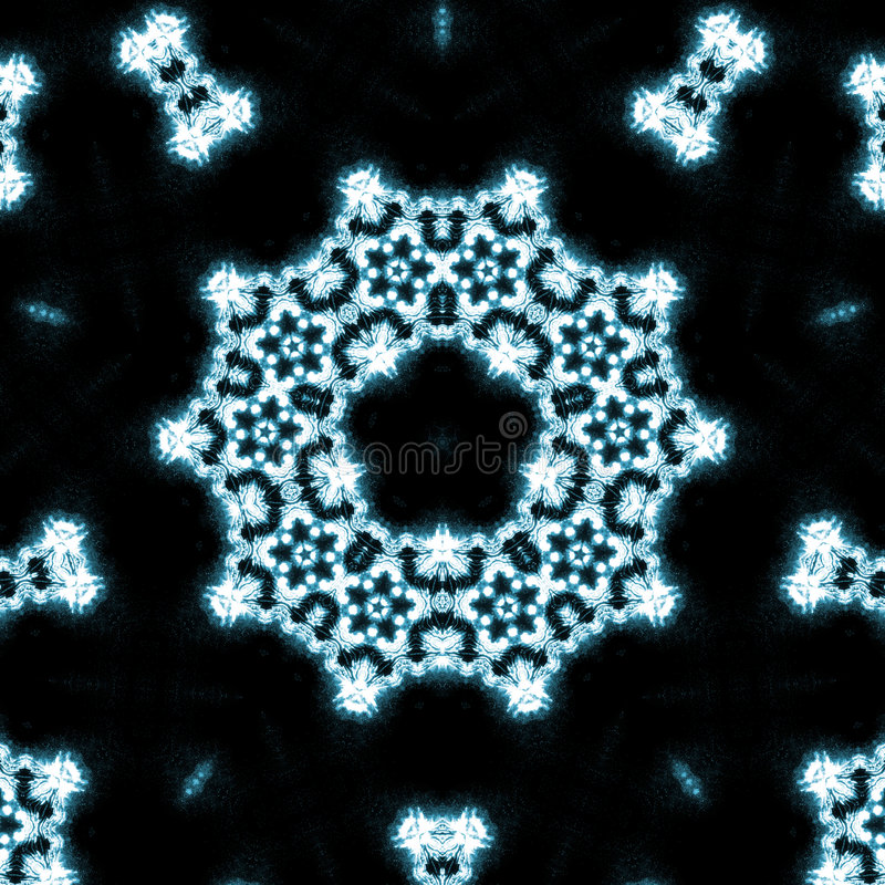 Kaléidoscope de flammes bleues illustration de vecteur