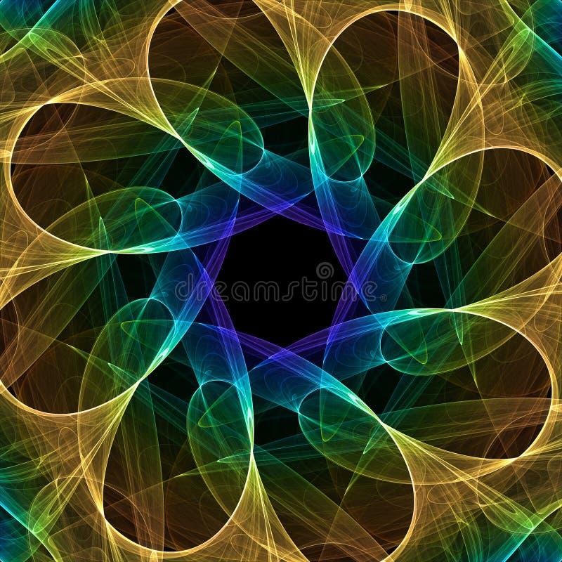 Kaléidoscope de fractale illustration libre de droits