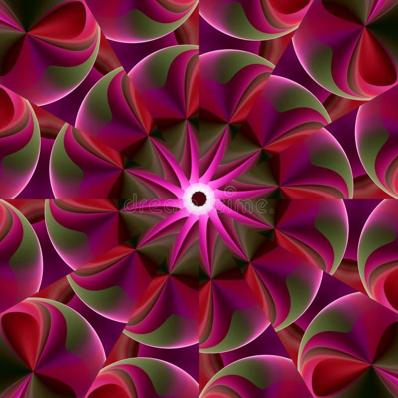 Kaléidoscope lumineux et gonflé illustration de vecteur