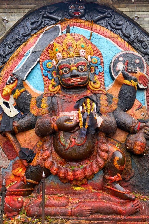 Kal Bhairav in Kathmandu. Kal Bhairav statue at Durbar Square in Kathmandu, Nepal stock image