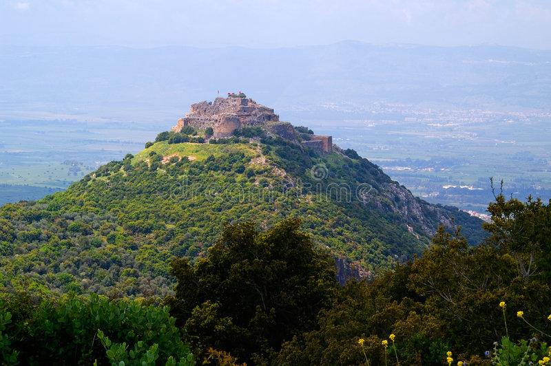 Download Kalat Nimrod fortress stock photo. Image of fortress, landscape - 9193276