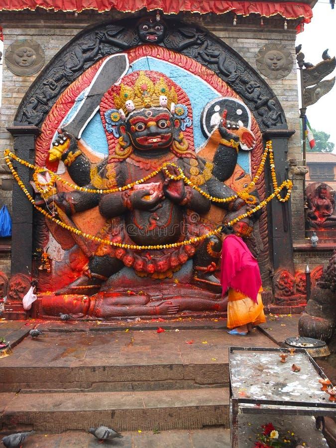 Kala Bhairawa, Κατμαντού, Νεπάλ στοκ εικόνες