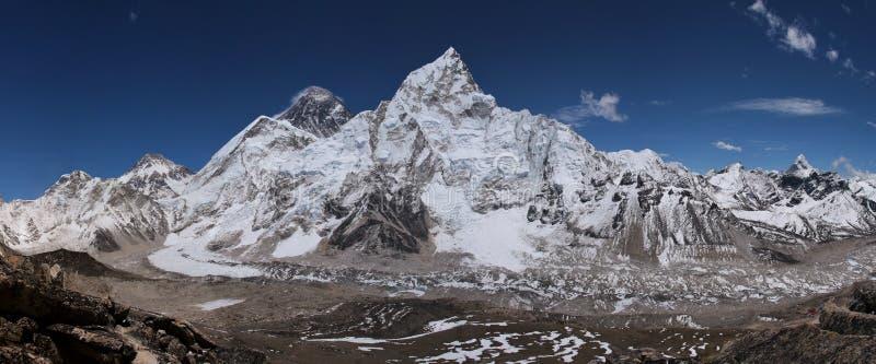 从Kala Patthar,尼泊尔的看法 免版税库存照片