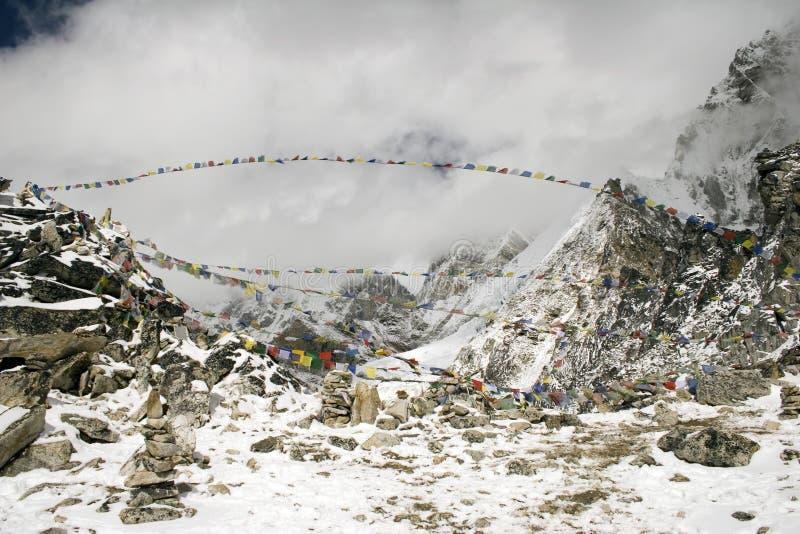 Kala Patthar - Nepal royalty-vrije stock afbeelding