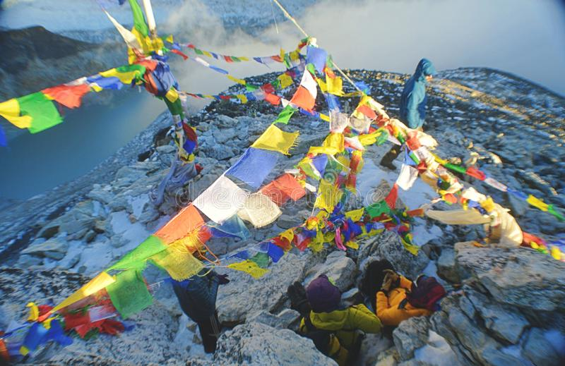 Kala Patthar Summit : Le Népal images libres de droits