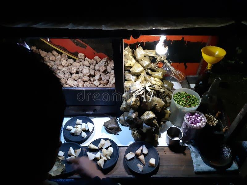 Kaladama. Indonesian traditional food, made fron tafu and diamond rice cake royalty free stock photos