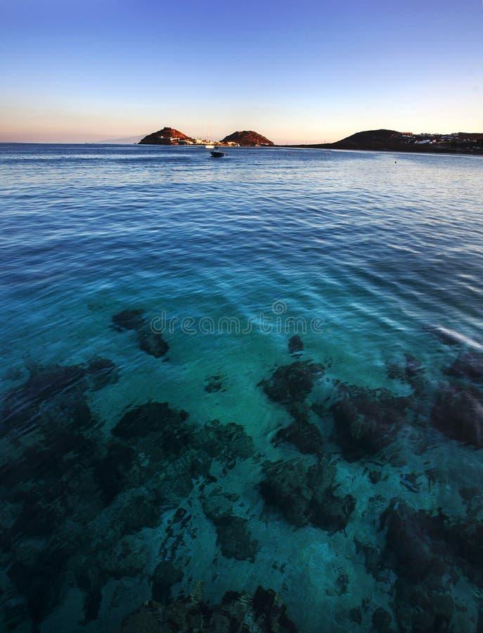Kalafatisstrand Mykonos, Greeece stock fotografie