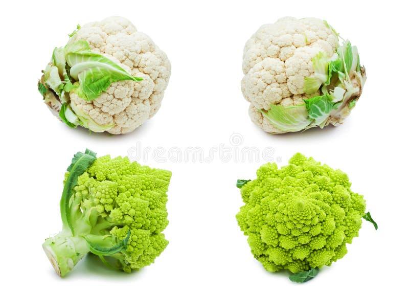 Kalafior i brokuły zdjęcia stock