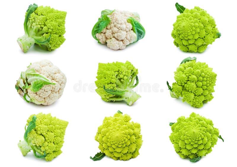 Kalafior i brokuły zdjęcie royalty free