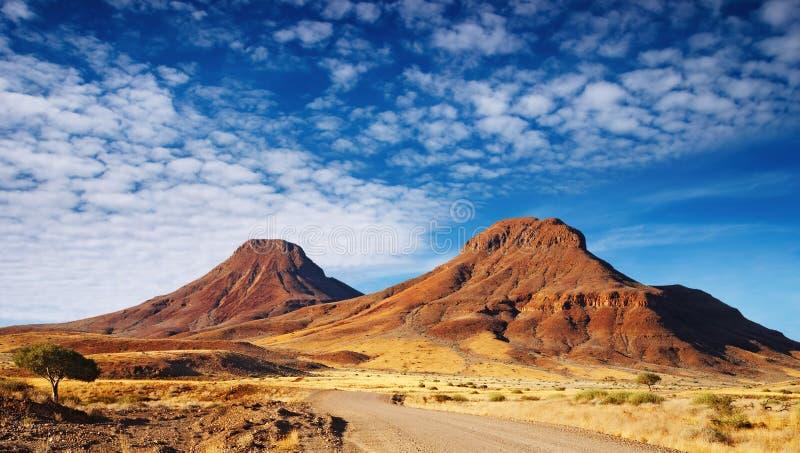 Kalahari Desert. Road in the Kalahari Desert, Namibia royalty free stock photography