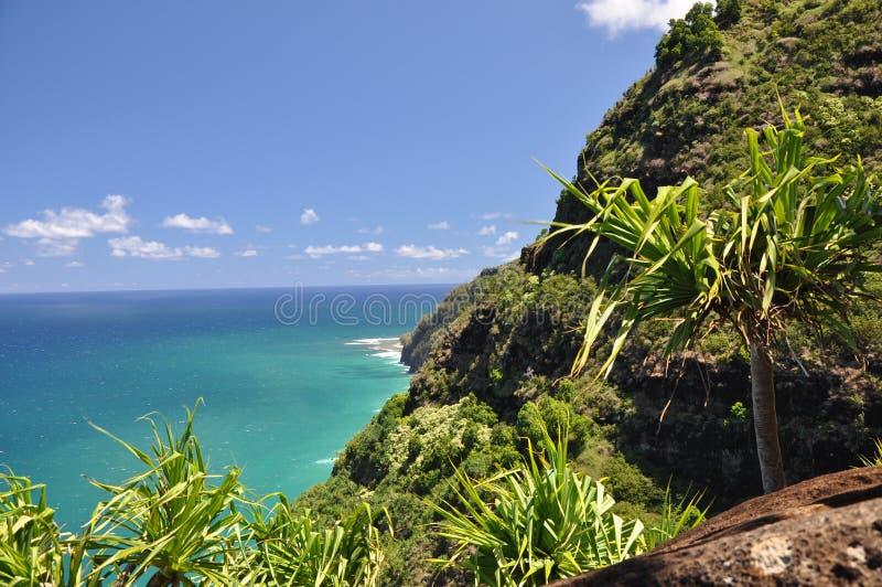 Kalalau足迹,考艾岛,夏威夷 图库摄影